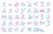 Piktogramme Silhouette 2012