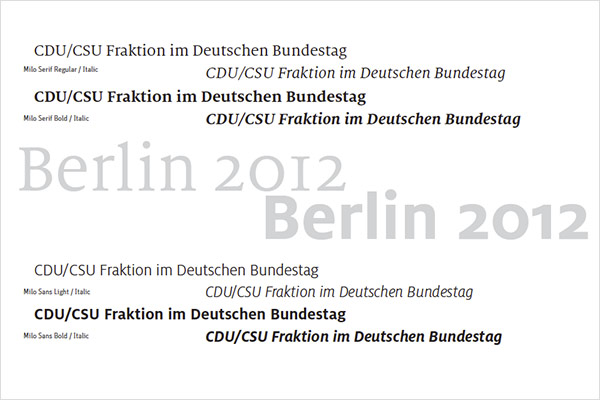 CDU CSU Fraktion Hausschrift