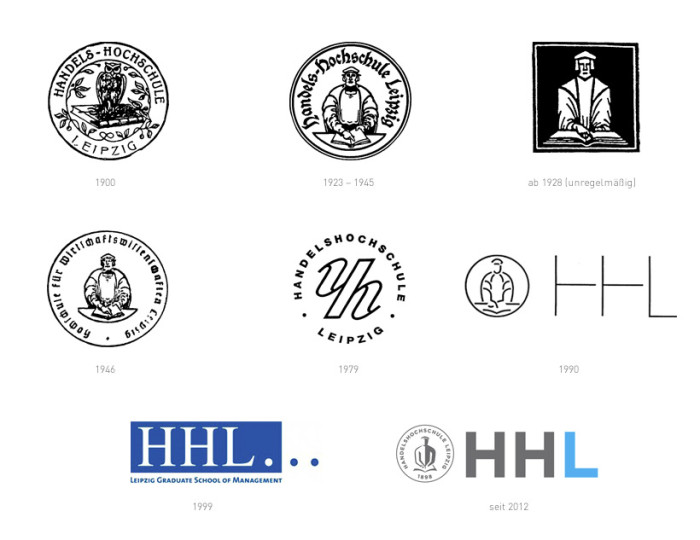 Handelshochschule Leipzig HHL Logohistorie