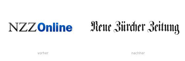 NZZ Logo Wortmarke