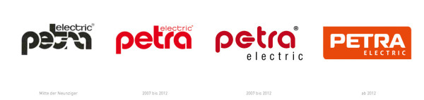 Petra Electric Logohistorie