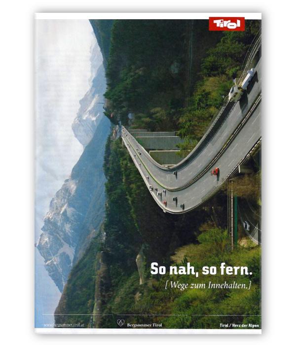 Tirol Werbung Anzeige Europabrücke