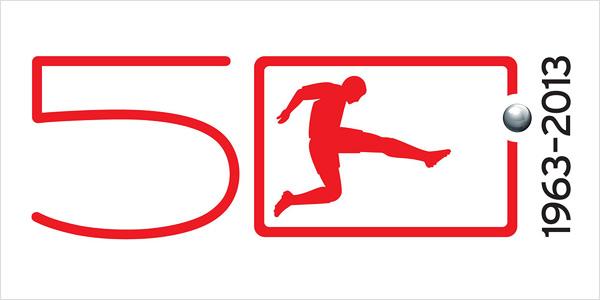 Jubiläumslogo 50 Jahre Bundesliga