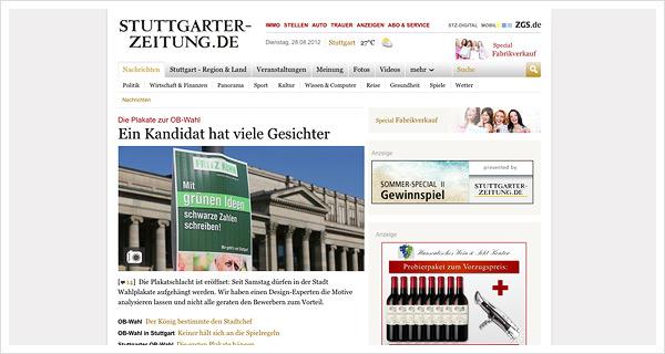 Analyse Wahlplakate OB-Wahl Stuttgart