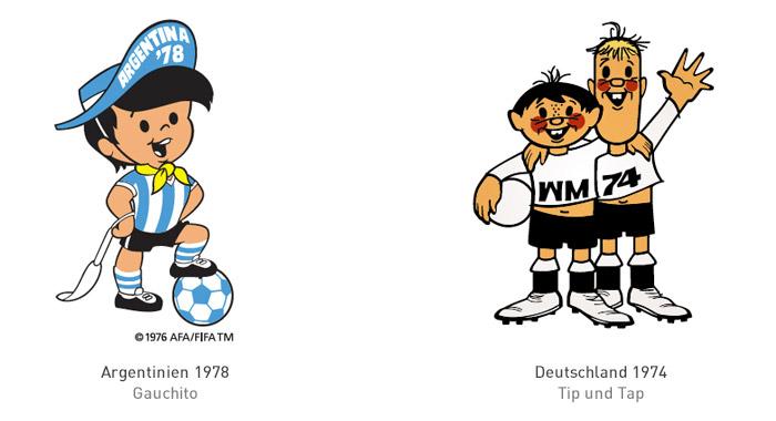 FIFA Maskottchen 1978 und 1974