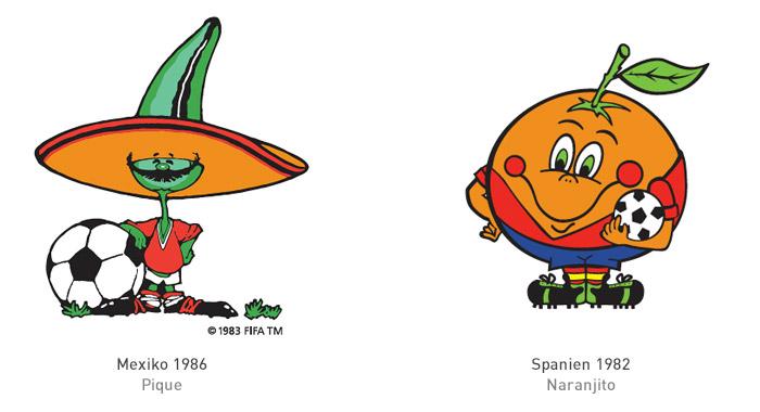 FIFA Maskottchen 1986 und 1982
