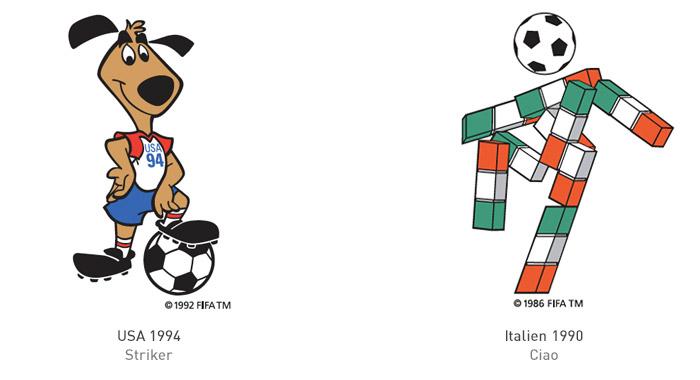 FIFA Maskottchen 1994 und 1990