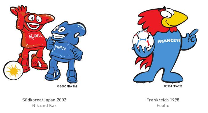 FIFA Maskottchen 2002 und 1998