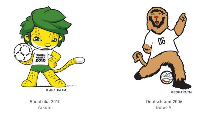 FIFA Maskottchen 2010 und 2006
