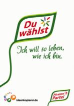 """Piratenpartei - Wahlplakat """"Bürger würden wählen gehen"""""""