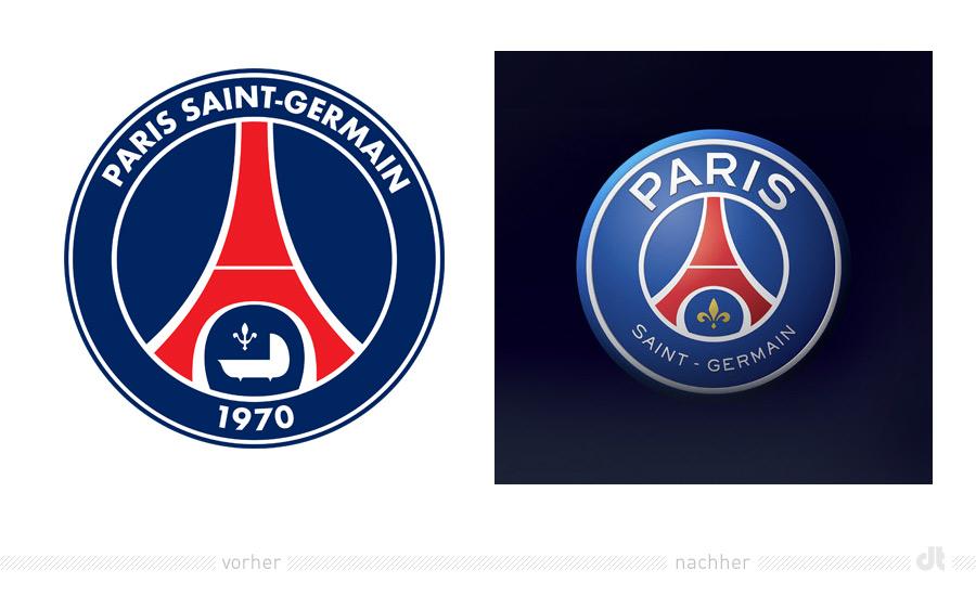 PSG Paris Saint Germain Logo – vorher und nachher