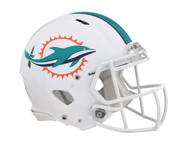 Miami Dolphins – Helm mit neuem Logo