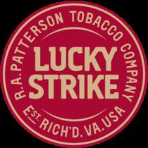 Lucky Strike Logo Straight Red