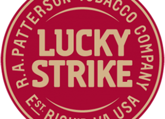 Lucky Strike Logo Straight Red