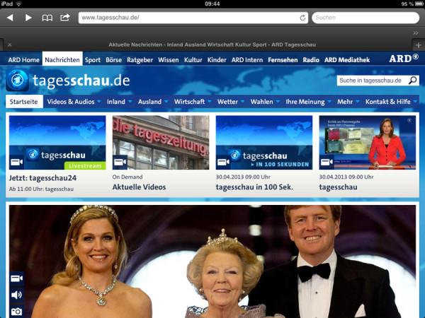 Tagesschau.de (iPad)