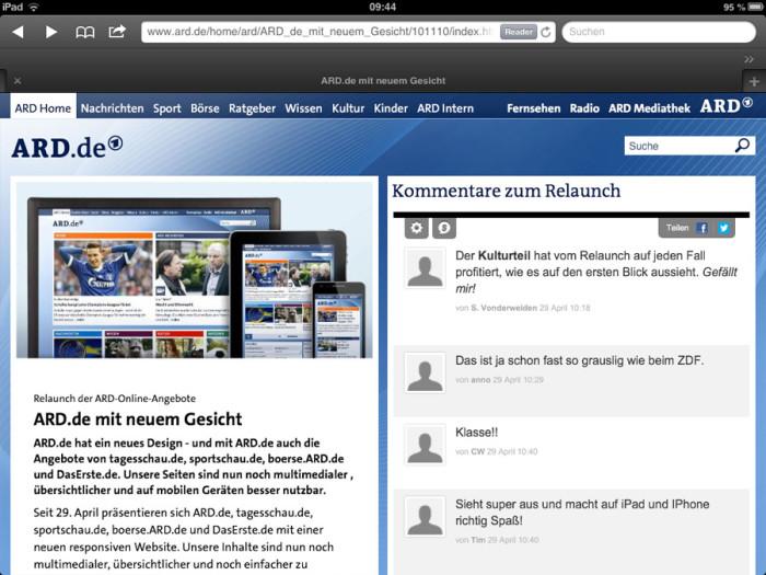Tagesschau.de Artikel (iPad)