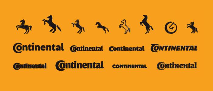 Continental Logoskizzen