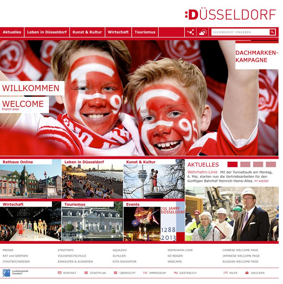 Düsseldorf Kampagnen-Website