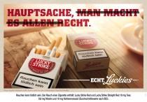 Lucky Strike Anzeige / Werbung