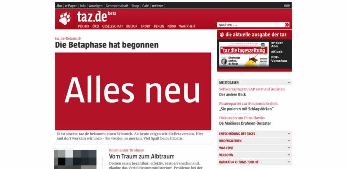 taz.de Relaunch