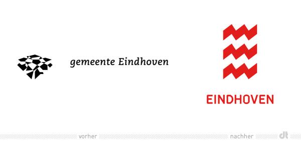Eindhoven Logo - vorher und nachher