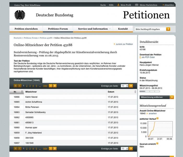 petition ksk