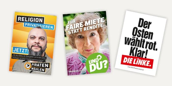 Die Plakate zur Bundestagswahl 2013 – Teil 1