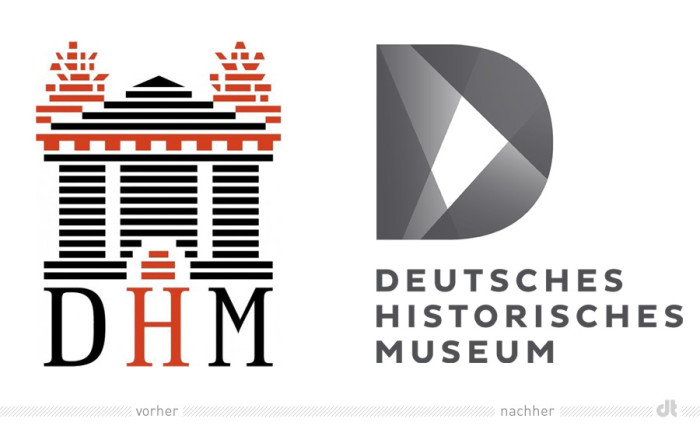 Deutsches Historisches Museum Logo – vorher und nachher