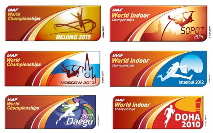 Die immer gleichen Logos der IAAF
