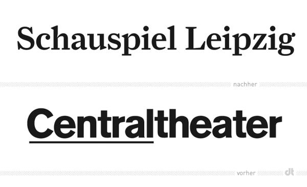 Logo Schauspiel Leipzig – vorher und nachher