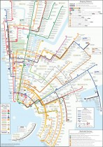 New York City Subway Map Circles