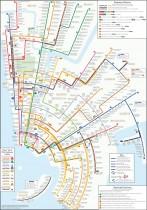 New York City Subway Map Circles