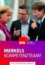 SPD Wahlplakat Bundestagswahl 2013 – Merkels Kompetenzteam?