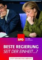 SPD Wahlplakat Bundestagswahl 2013 – Beste Regierung?