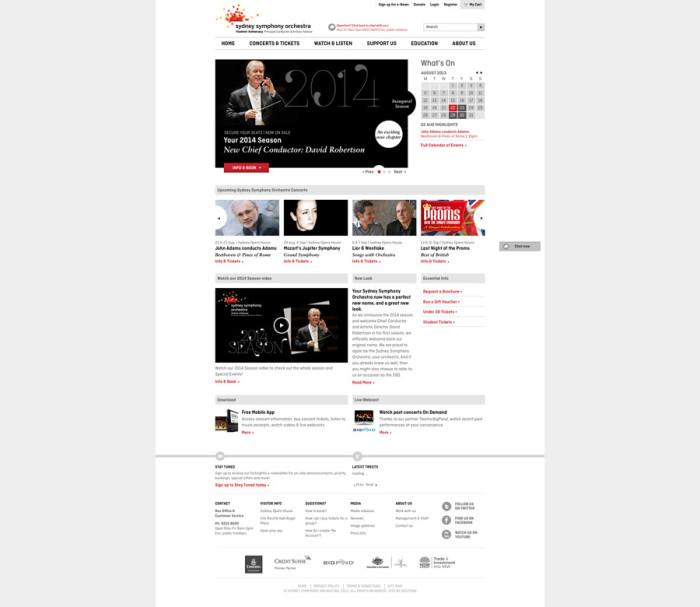 sydney symphony orchestra homepage