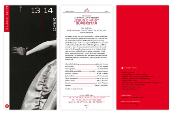 Theater Bonn Oper Programmbroschüre