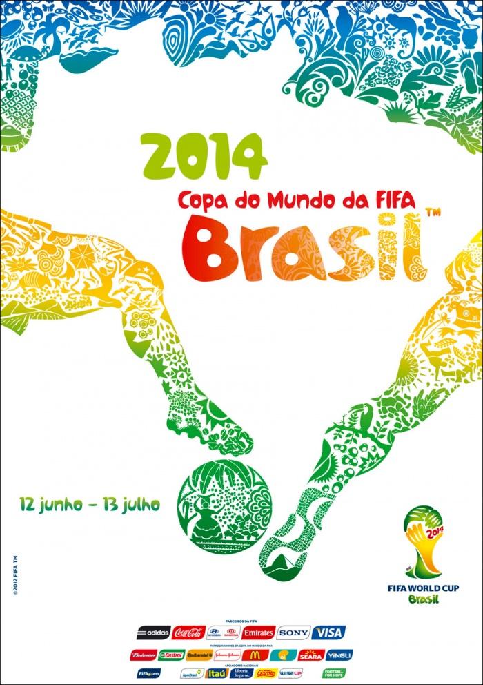 Offizielles Poster zur FIFA Weltmeisterschaft 2014