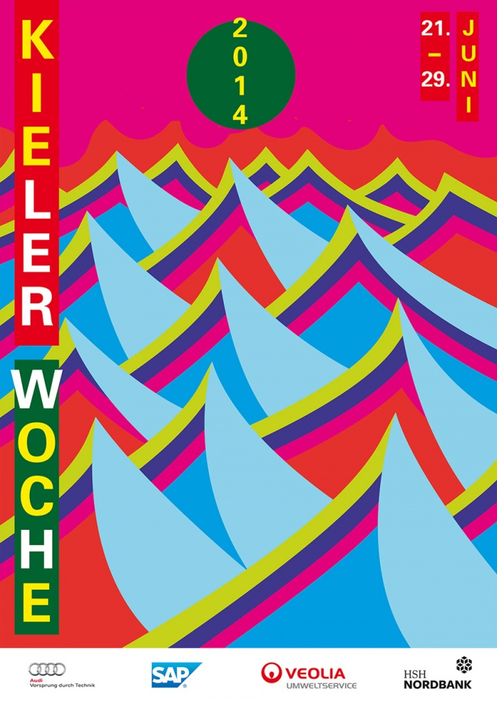 Plakat zur Kieler Woche 2014