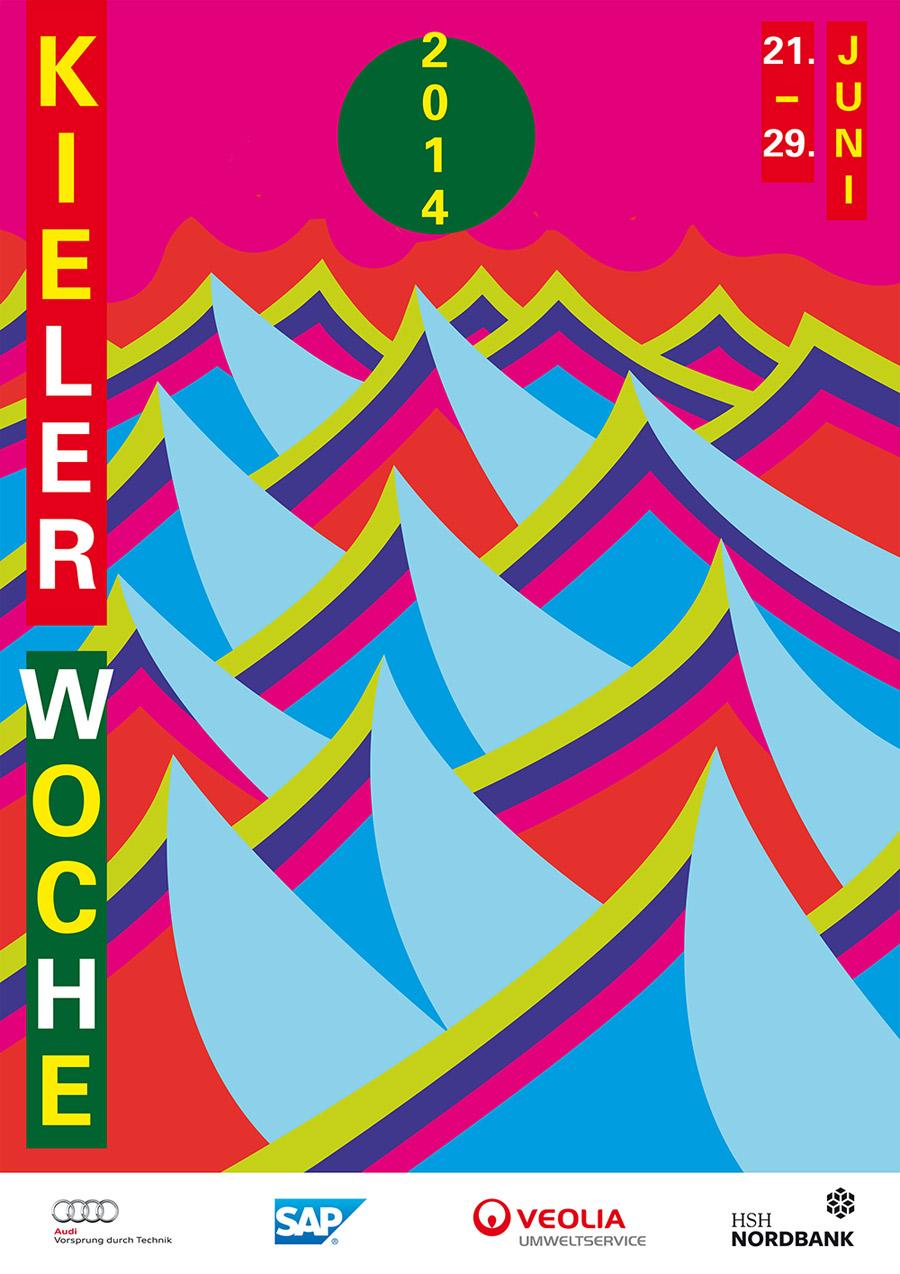 Plakat Kieler Woche 2014