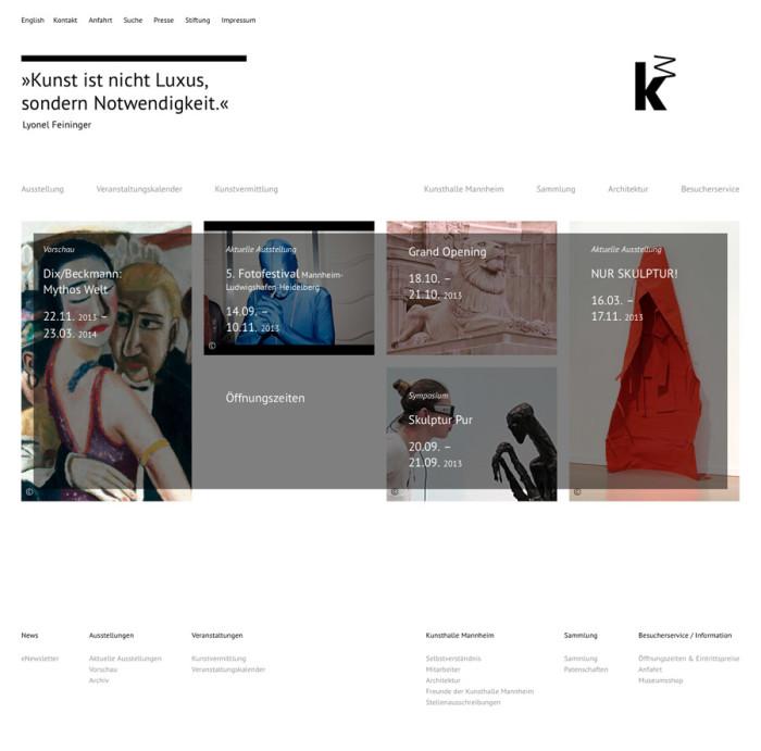 Kunsthalle Mannheim – Website