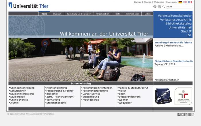 Uni-Trier.de - vorher