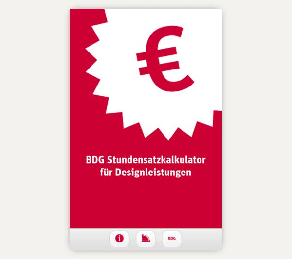 BDG Stundensatzkalkulator für Designleistungen