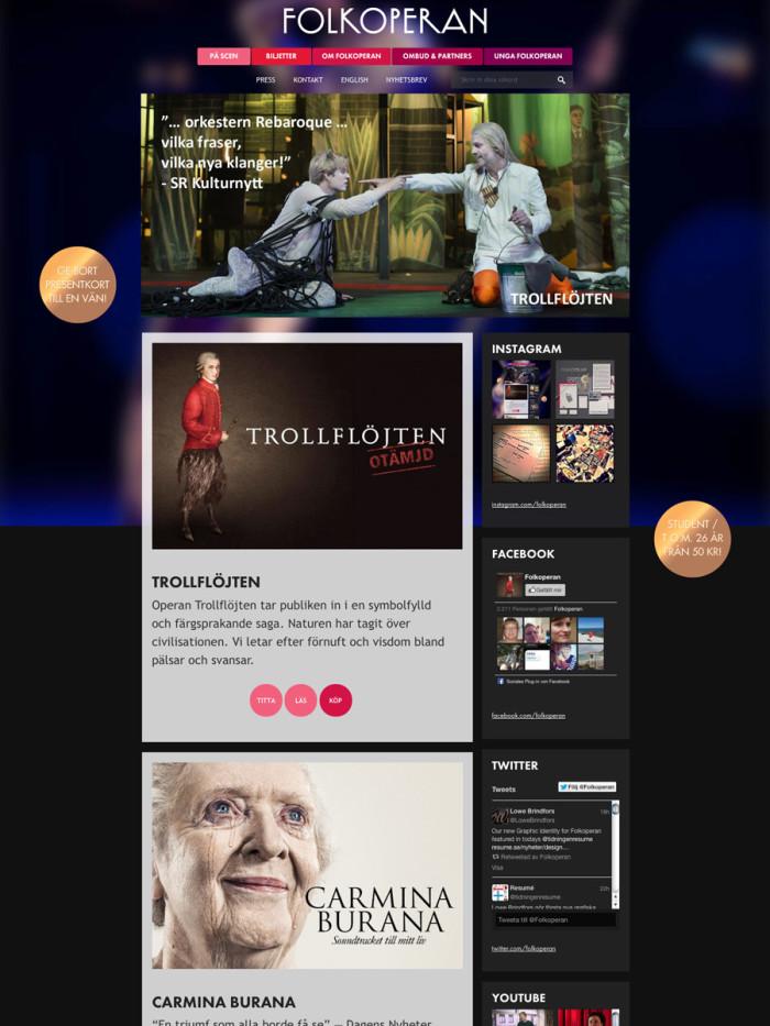 Folkoperan Website