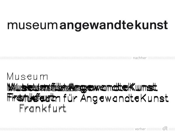Museum Angewandte Kunst Frankfurt Logos