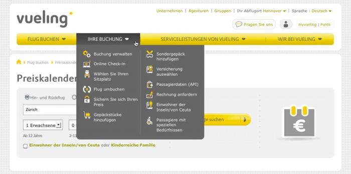 Vueling.com – Navigation