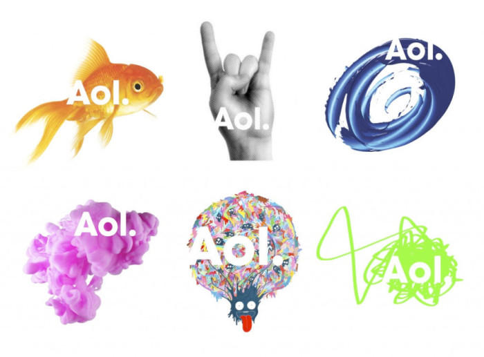 AOL Logos (Redesign November 2009, von Wolff Olins) Stichwort: dynamisches Zeichen