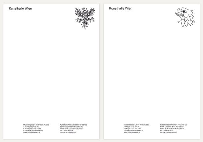 Kunsthalle Wien – Briefpapier