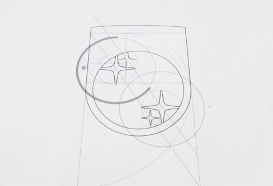 philips new logo sketch филипс эскиз нового логотипа
