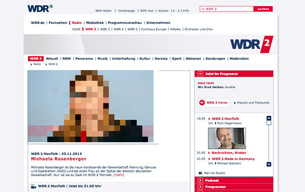 WDR 2 - Website