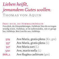 Gotteslob – DTL Documenta – Beispiele